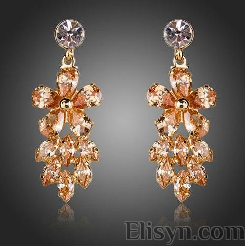 citrine earings passionate