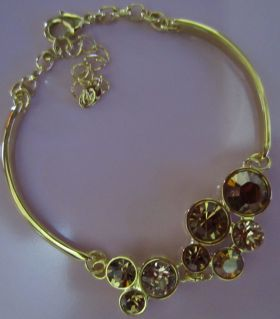 Gold Citrine Bracelet Fire