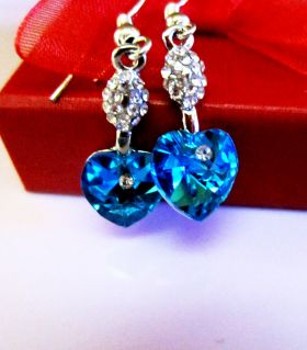 Survivor blue earrings