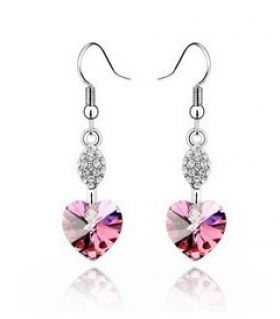 Earrings Survivor magenta