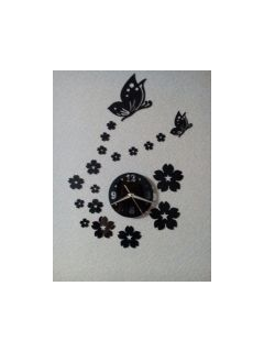 3d sticker wall clock