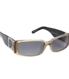 ELLE Brown Clear Plastic Sunglasses