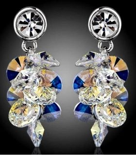 Earrings rain of crystals