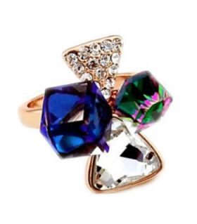 Chic ring with Swarovski Elements