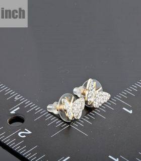 Diamond butterfly earings