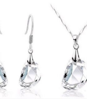 austrian crystal set white