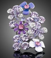 Ring purple flower garden