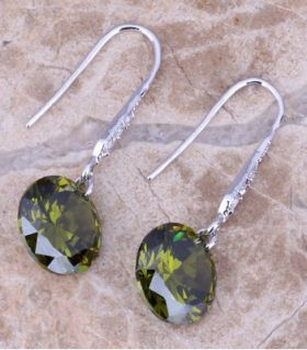Earrings mood with peridot