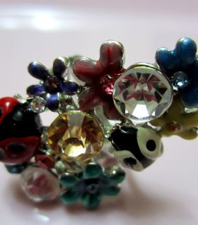 Women ring ladybirds and color