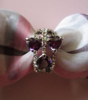 Soft amethyst ring