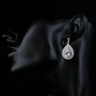 Earrings Diana White