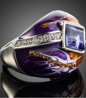 Ring temptation purple amethyst